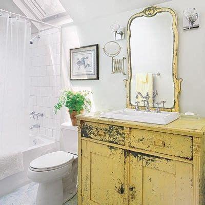 Yellow Bathroom Vanity by Yellow Vanity Made From Vintage Dresser Vintage