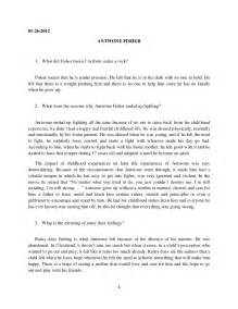 Writing A Reaction Paper Format Antwone Fisher Reaction Paper