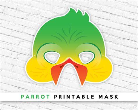printable bird mask parrot printable mask tropical bird mask pet printable