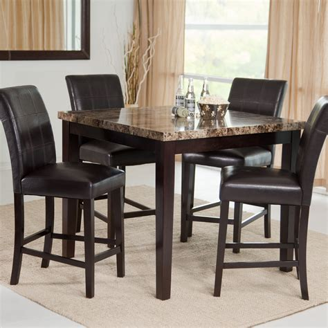 High Dining Table Set by Image Gallery High Dining Table Sets