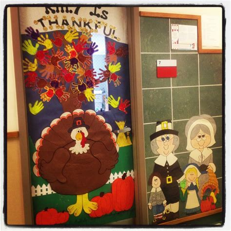 Thanksgiving Classroom Door Decorations by Thanksgiving Day Door Decoration Idea Crafts And Worksheets For Preschool Toddler And Kindergarten