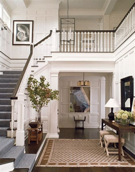 Staircase Ideas Near Entrance This Large Front With Open Stairs Beautiful Woodwork And Moulding Balcony Everything
