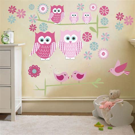 childrens cute owls twit twoo wall stickers decals nursery girls room kids  ebay