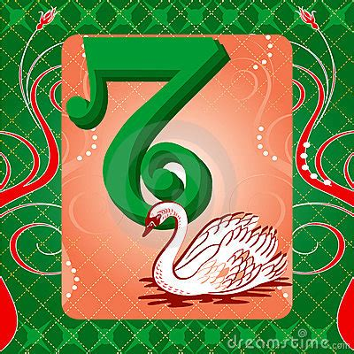 12 days of christmas 7 swans a swimming royalty free stock