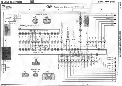 1993 lexus sc400 stereo wiring diagram wiring diagrams