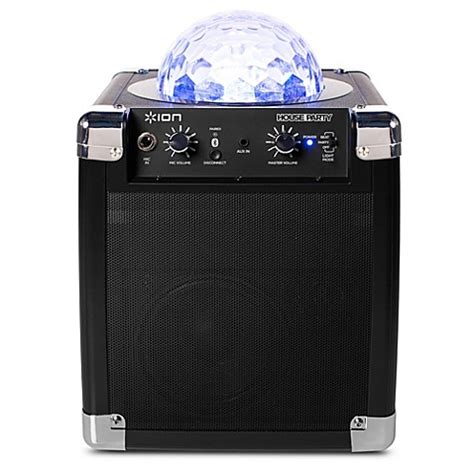 bed bath and beyond speakers ion 174 house party bluetooth 174 speaker system bed bath beyond