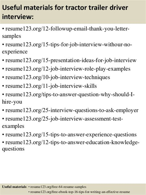 Sle Resume Tractor Trailer Driver top 8 tractor trailer driver resume sles