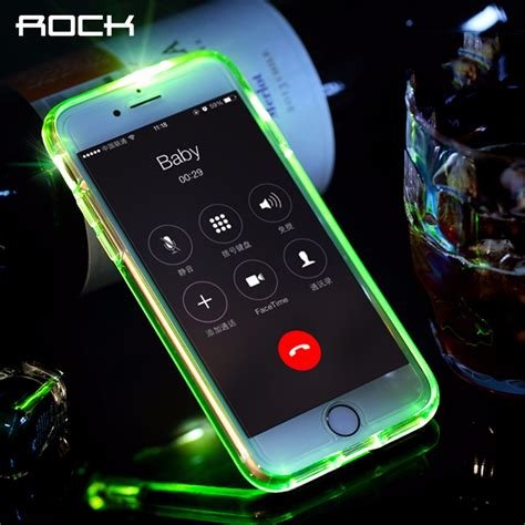 Iphone 7 7 Plus Ory Casing Cover 1 rock led flash phone for iphone 7 plus light flash calling notice series phone
