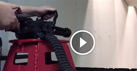 introducing  xm micro   electric handheld gatling gun  mm