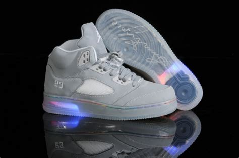 gray light up shoes nike air 5 grey light up shoes