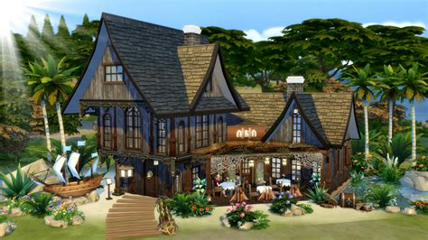 Backyard For Dogs The Sims 4 Dine Out Building A Pirate Themed Restaurant