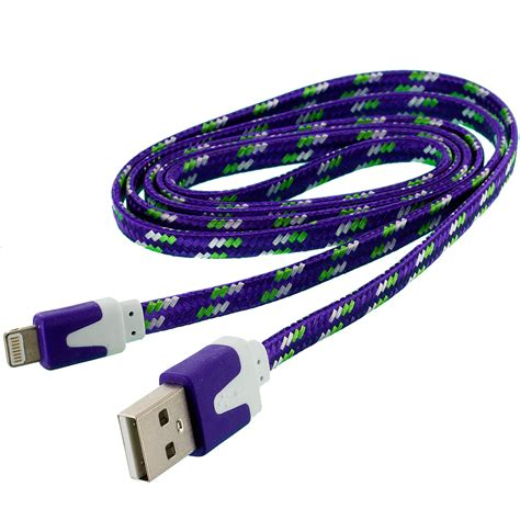 Cable Sync For Iphone noodle rope braided sync usb data charger cable cord 3ft
