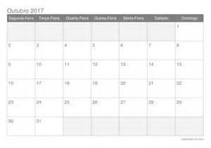 Calendario 2018 Mes De Outubro Calend 225 Outubro 2017 Para Imprimir Icalend 225 Br