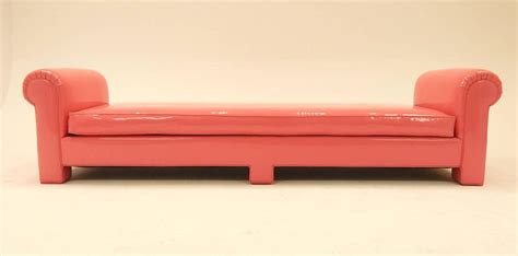 backless sofa or couch 1974 backless sofa in pink naugahyde by california
