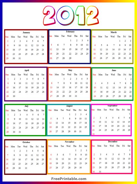 2012 calendar template free printable calendars 2013 monthly calendar 2012