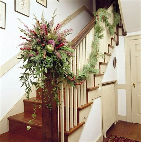 christmas banister garland ideas 1138 best images about christmas staircase on pinterest