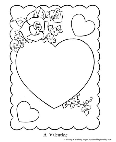 printable coloring pages valentines day cards teaching frenzy s day 2014 colouring pages