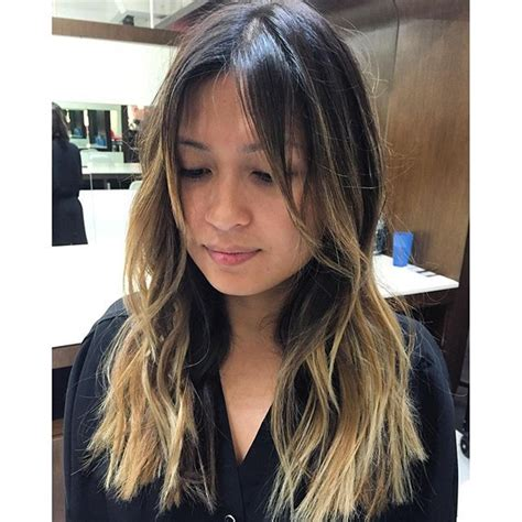 image result for blunt bangs and balayage coiffure coiffures m 232 ches et beaut 233 image result for balayage with bangs hair bangs balayage and bangs