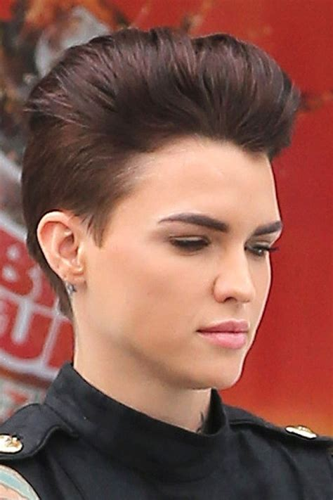 ruby rose hairstyles ruby rose straight auburn mohawk hairstyle steal her style