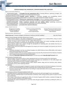 Advertising Manager Sle Resume by Resume Sles For Sales And Marketing Sell Yourself