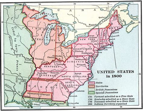 map of the united states in 1800 united states 1800 maps pinterest