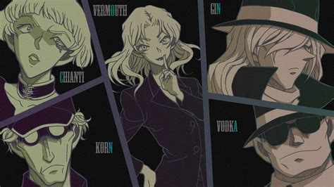 vermouth detective conan kuro no soshiki black organization meitantei conan
