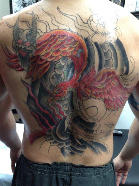 phoenix tattoo on her back japanese phoenix tattoo on back tattooshunt com