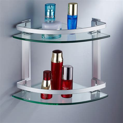 Beautiful And Very Functional Bathroom Corner Shelf Home Bathroom Corner Shelves Glass