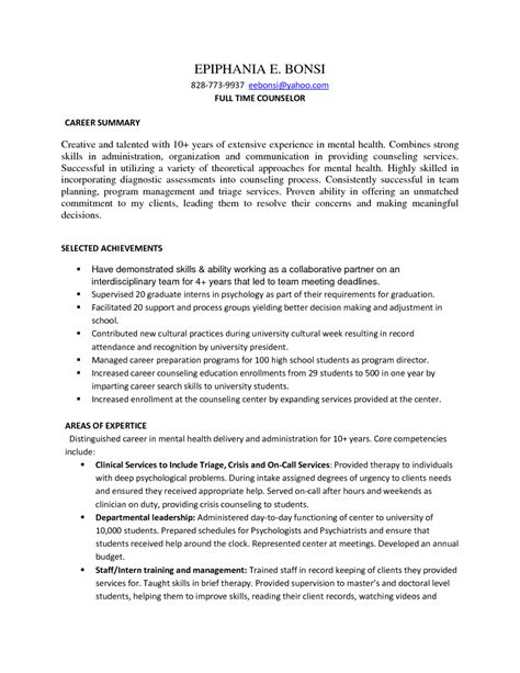 Behavioral Health Technician Cover Letter by Sle Resume Mental Health Counselor Resume Ideas