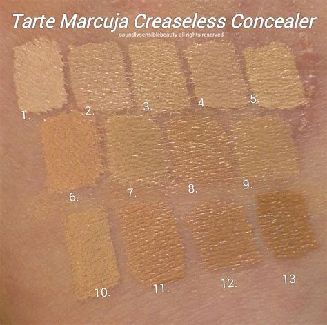 light medium tarte foundation tarte marcuja creaseless concealer full cover concealer