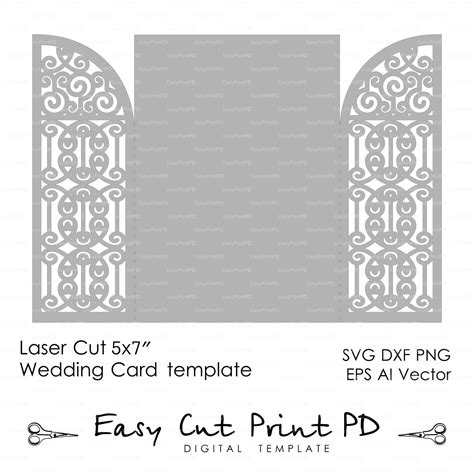 Gate Card Template by Wedding Invitation Card 5x7 Quot Template Iron Door Gate Folds
