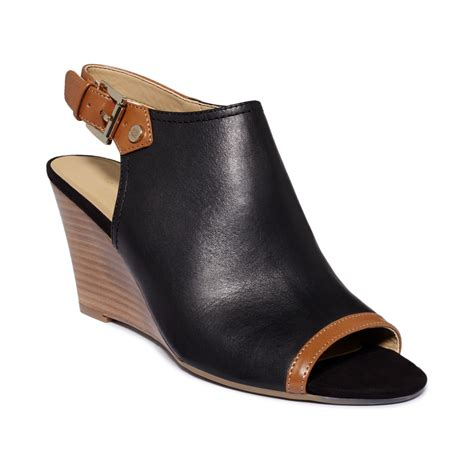 Hilfiger Wedges by Hilfiger Obelia Wedges In Black Black Multi Leather
