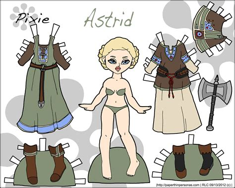 printable viking paper dolls pixie and puck astrid paper thin personas paper thin