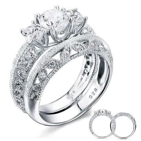 bijoux argent femme 925 bague argent 925 rhodie femme sertie zirconium multi bagues bijouxstore webid 1090