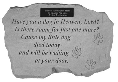 pets in heaven gift for owners garden pet memorial you a in heaven engravable