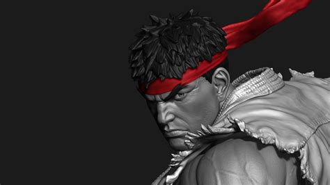 Triger 3d v trigger ryu 3d by chris patterson zbrushtuts