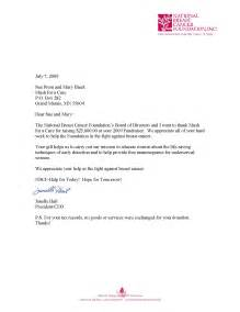 sle letter giving a donation sle business letter