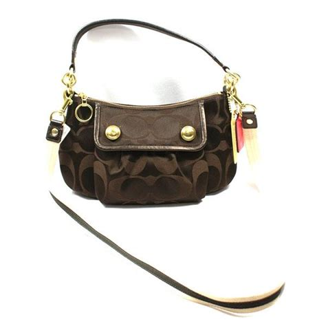 coach swing bag coach poppy signature sateen groovy shoulder swing bag