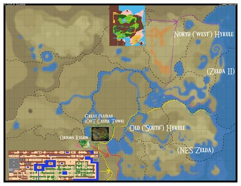legend of zelda map comparison cartography of zelda breath of the wild nerdy but flirty
