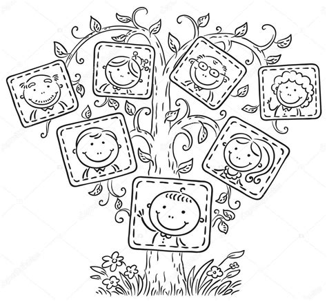 imagenes en blanco y negro de la familia stammbaum in bilder schwarz wei 223 gliederung stockvektor