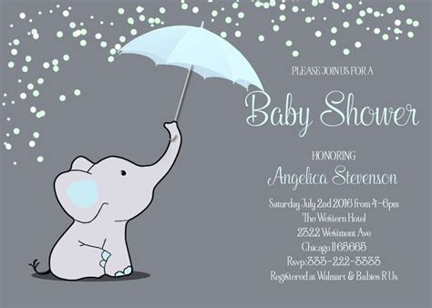 Baby Shower Umbrellas by Elephant Baby Shower Blue Umbrella Baby Shower Baby