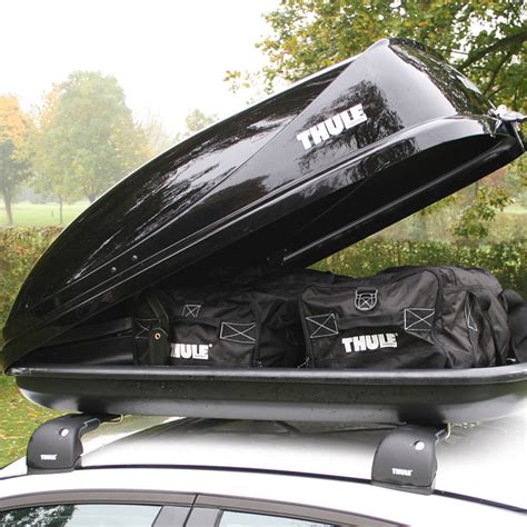 Thule 80 Roof Box 710987 thule 80 roof box 320 litre black wilco direct