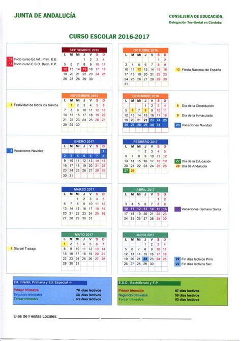 Calendario Laboral 2018 Cordoba Calendario Escolares 2016 2017 Cordoba Imagenes Educativas