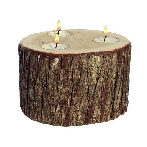 tree stump candle holder stump candle candle stump