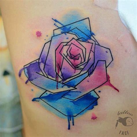 tattoo geometric watercolor tattoo tattoos colortattoo watercolor cute styles
