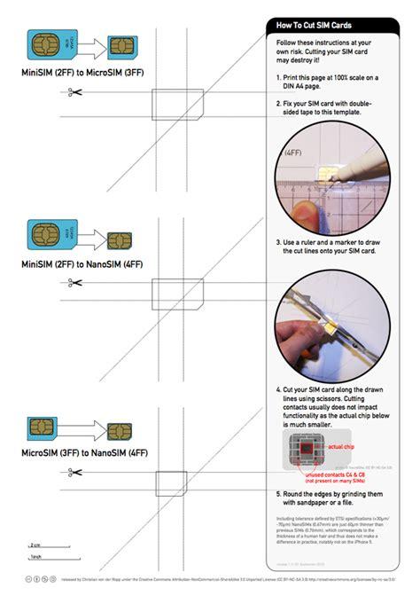 Iphone 5 Nano Sim Card Template