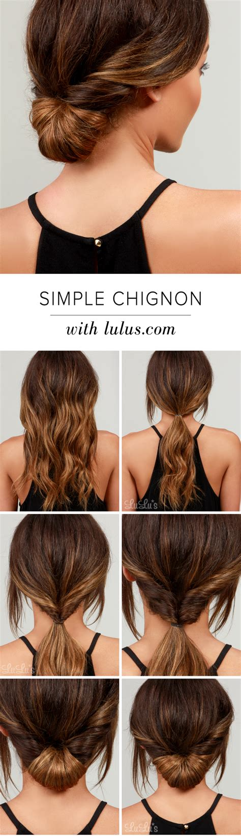 easy hairstyle how tos lulus how to simple chignon hair tutorial lulus com