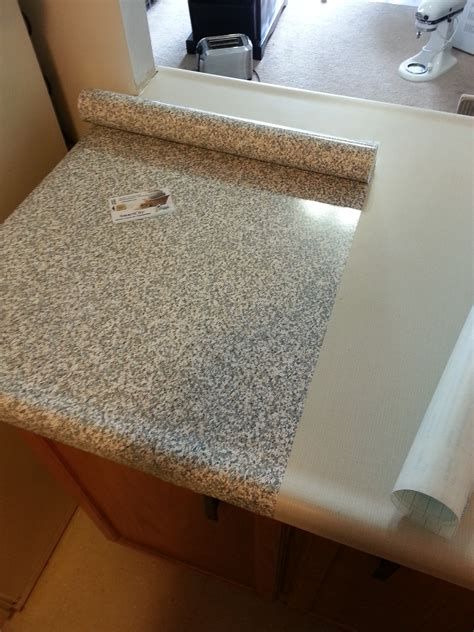 Paper Countertops by Re Cover Countertops With Con Tact Papers Newlywed