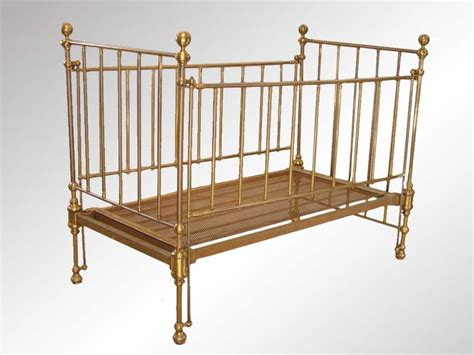 Vintage Cribs For Babies Antique Brass Baby Crib Furniture Antiques Toys