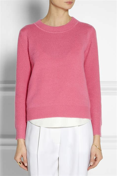 Two Color Sweater Pink chlo 233 sweater in pink lyst